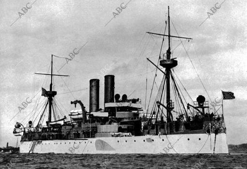 El buque de guerra «Maine» en una fotografía de 1896