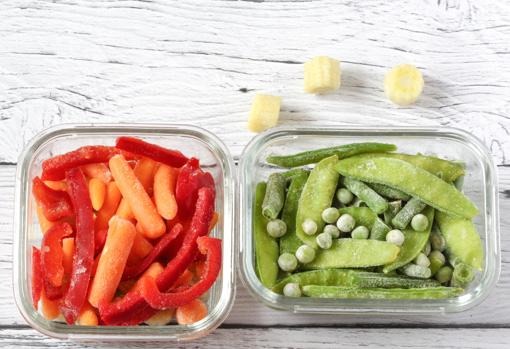 Having cut and frozen vegetables will save you time.