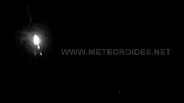 Imagen de la bola de fuego, captada por el Complejo Astronómico de La Hita