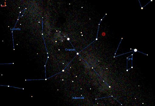 Entorno de las constelaciones donde podría aparecer un nuevo punto entre 2021 y 2023