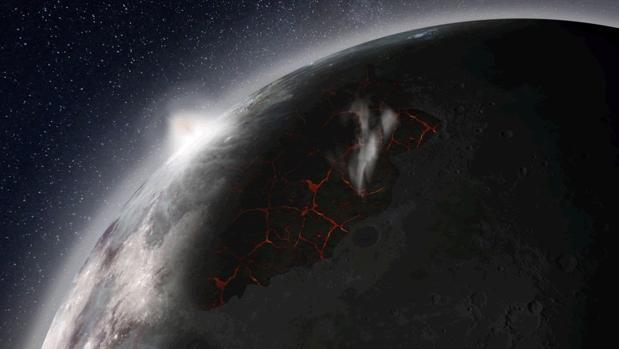 La Luna sufrió erupciones volcánicas tras su formación