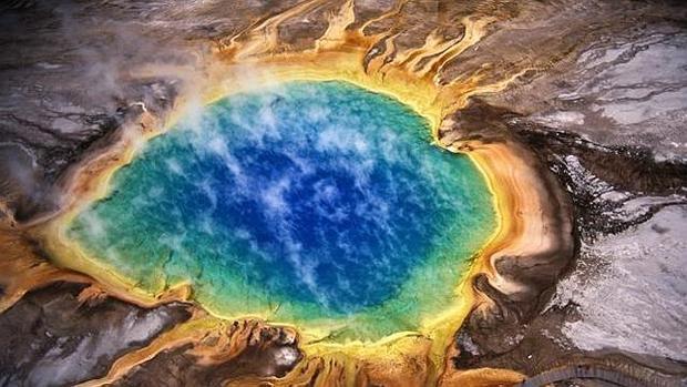 La gran caldera del supervolcán de Yellowstone