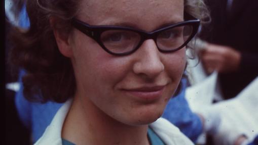 Una joven Bell Burnell, en 1967