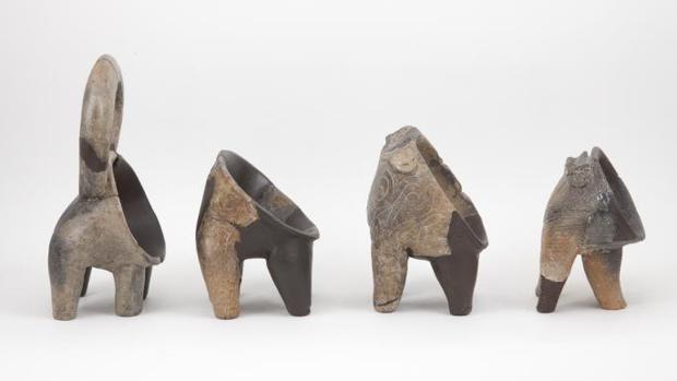 Varios recipientes hallados en Dalmacia, Croacia, en el marco de este trabajo