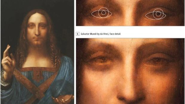 «Salvator Mundi», una pintura recientemente atribuida a da Vinci, mostraría algunos rasgos de su propio autor, como su estrabismo, según una investigación