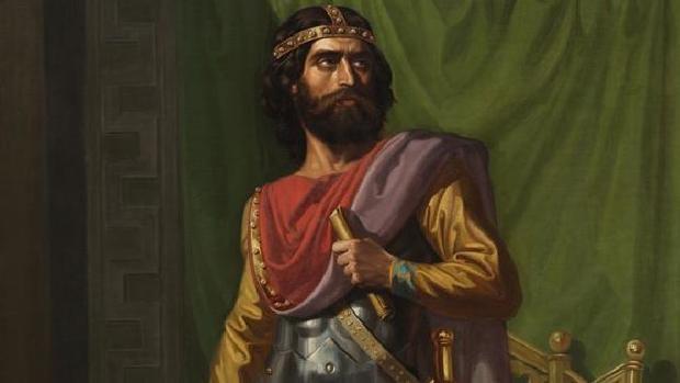 Retrato imaginario de Sisebuto, rey de los visigodos entre los años 612 y 621