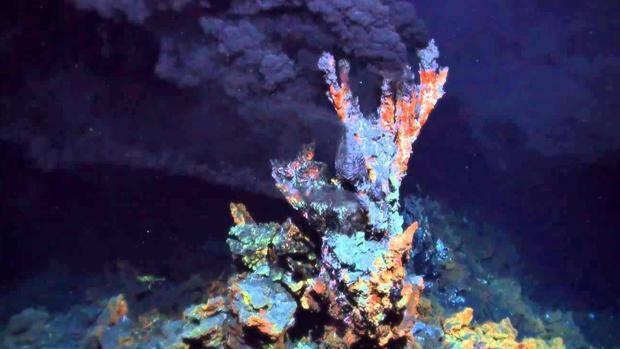 Una fuente hidrotermal de donde se cree pudo surgir la vida hace 4.000 millones de años