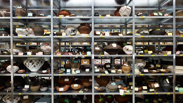 Algunos envases celtas almacenados en el museo estatal de Württemberg (Alemania)