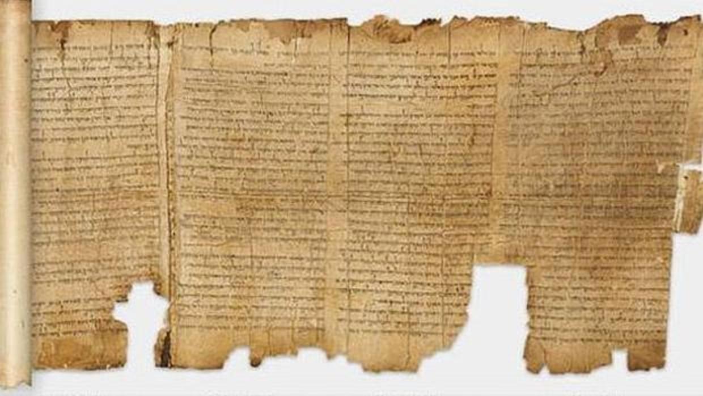 Uno de los manuscritos del Mar Muerto