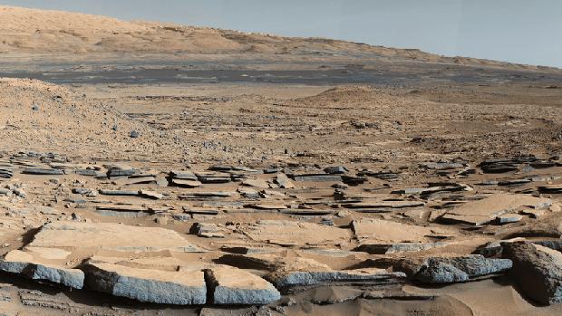 Una de las espectaculares imágenes del Curiosity de la superficie de Marte