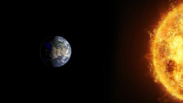 Recreación de la Tierra y el Sol