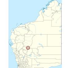 Localización del cráter de Yarrabubba
