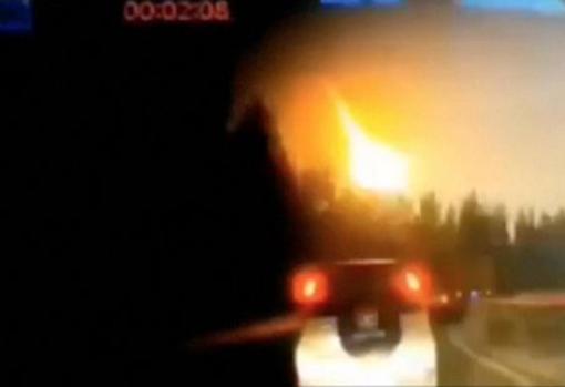 Imagen de la bola de fuego que se pudo ver en los cielos chinos en octubre de 2019