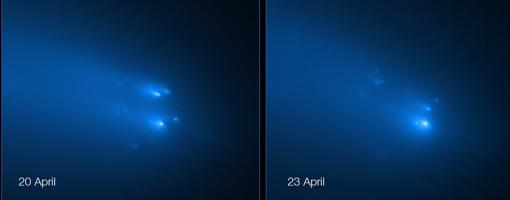 El Hubble captura la ruptura del cometa Atlas