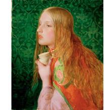 Mary Magdalena (1859), de Frederic Sandys, muestra un fondo de papel tapiz verde esmeralda que pudo contener arsénico