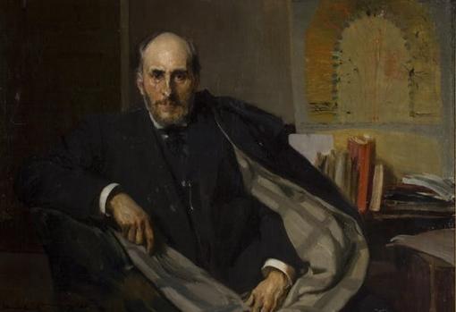 Retrato de Cajal realizado por Joaquín Sorolla