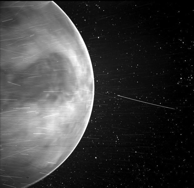 Imagen tomada por el instrumento WISPR de Parker Solar Probe