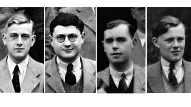 Arthur Stone, Leonard Brooks, Cedric Smith y William Tutte, los matemáticos y el químico detrás del pseudónimo de Blanche Descartes