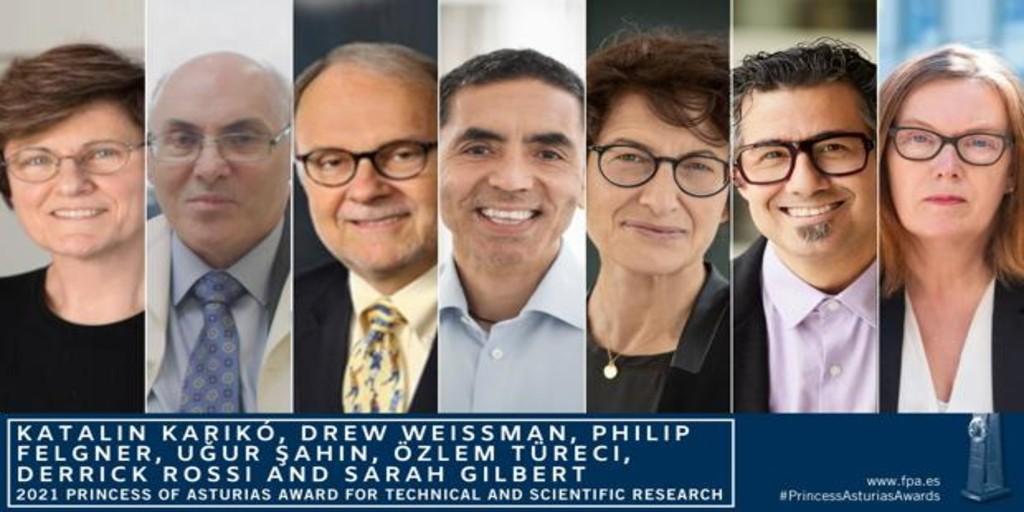 Los padres de las vacunas contra el Covid-19, Premio Princesa de Asturias de Investigación Científica y Técnica 2021