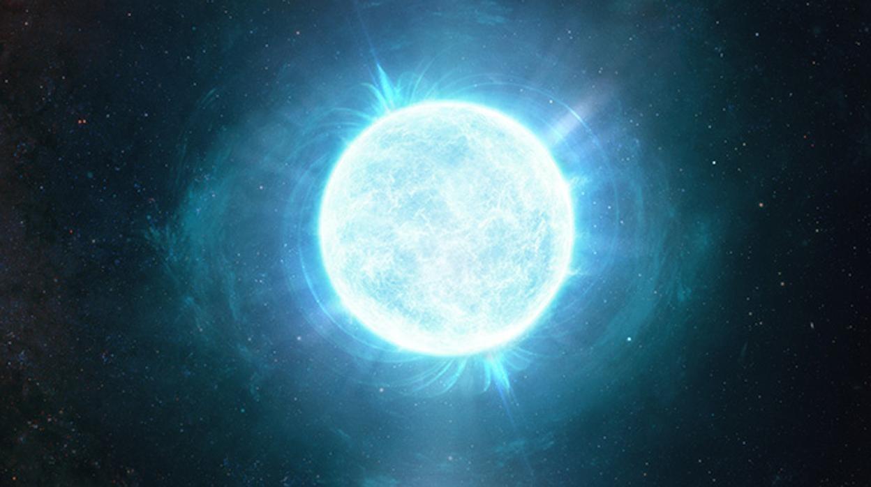 Hallan una estrella del tamaño de la Luna y tan masiva como el Sol
