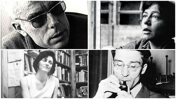 De izquierda a derecha y de arriba a abajo: Gabriel Ferrater, Alejandra Pizarnik, Anne Sexton y Cesare Pavese