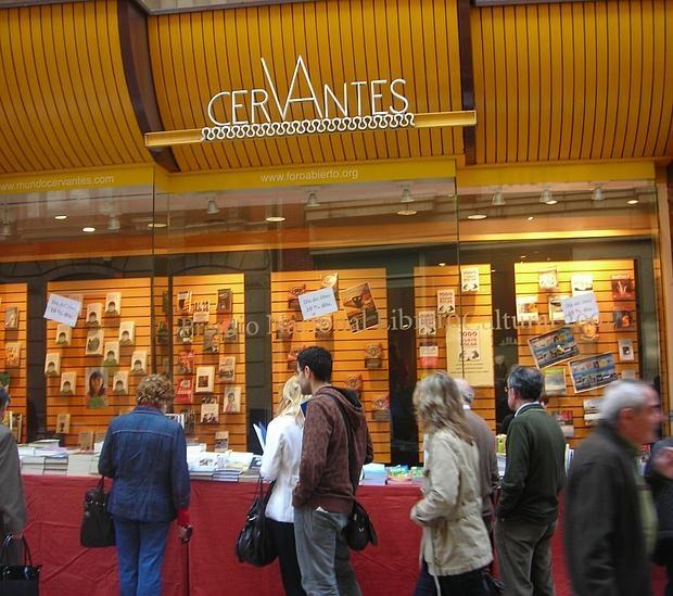Escaparate de la librería Cervantes, en Oviedo, una de las que ha recibido el sello de calidad de Cultura