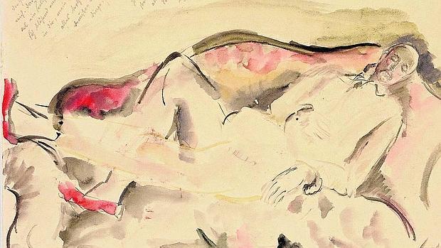 Retrato de Rilke realizado por Baladine Klossowska