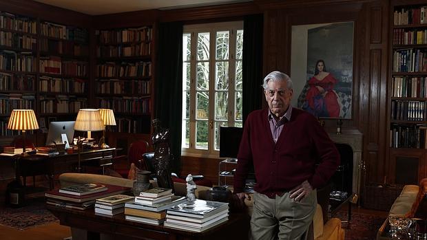 Mario Vargas Llosa, durante la entrevista en casa de Isabel Preysler