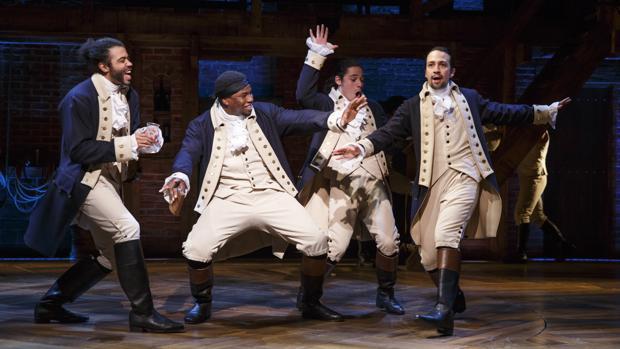 Una escena del musical «Hamilton»