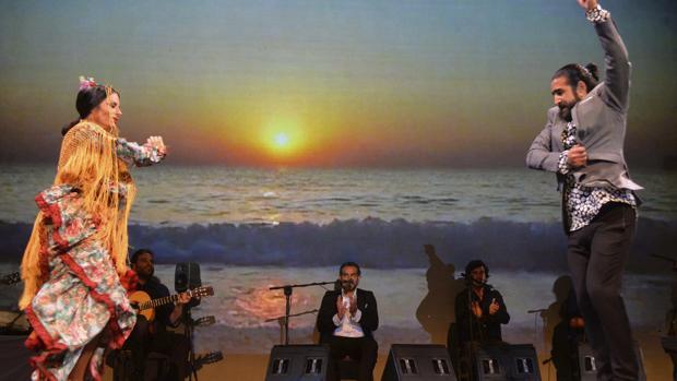 Momento del musical flamenco «Eterno Camarón»