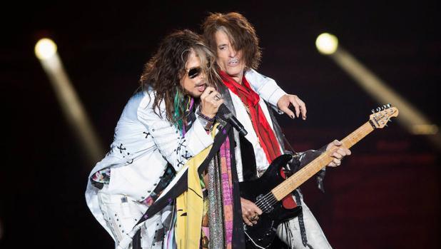 Steven Tyler y Joe Perry, de Aerosmith
