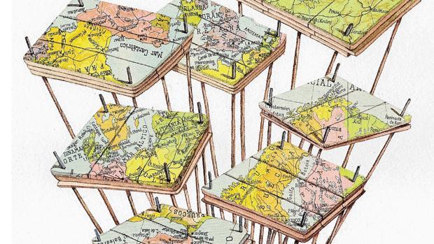Detalle del boceto de Manuel Antonio Domínguez para el proyecto «Cada-VER Exquisito» en el estand de ABC Cultural en ARCO'17