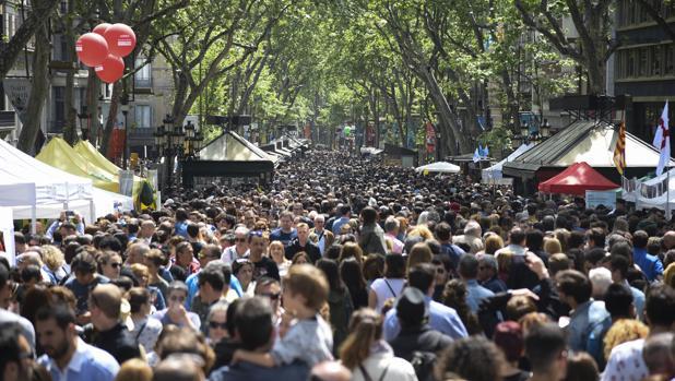 El libro volvió a colapsar el centro de Barcelona