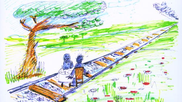 Dibujo para «Desayuno en la hierba»