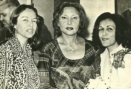 De izquierda a derecha, Nélida Piñon, Clarice Lispector y Marly de Oliveira