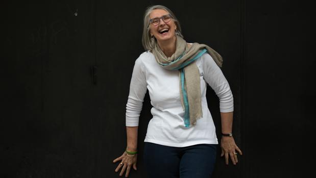 La escritora canadiense Louise Penny, fotografiada a su paso por Barcelona