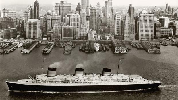 El «Normandie» en Nueva York