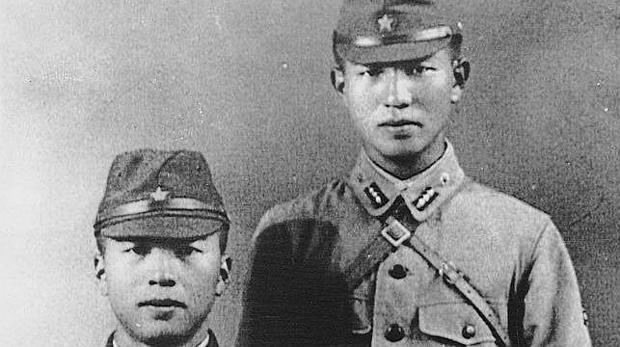 Dos soldados japoneses de la Segunda Guerra Mundial