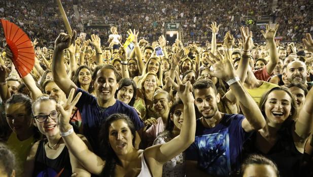Público durante el concierto de David Bisbal el año pasado en Alicante