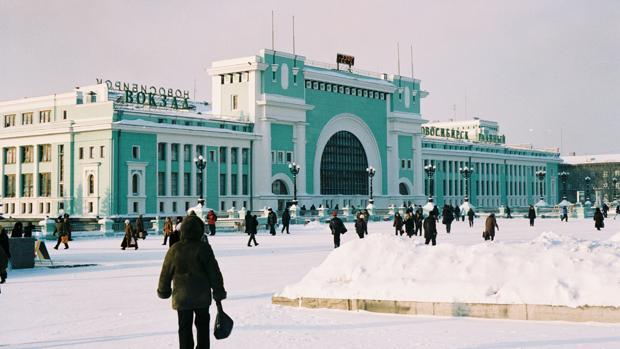 EStación de tren de Novosibirsk, capital de Siberia