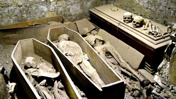 Interior de la cripta de San Michan
