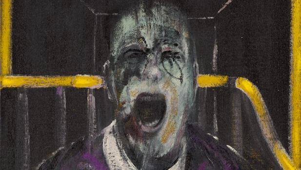 Detalle de «Study for a Head», de Francis Bacon