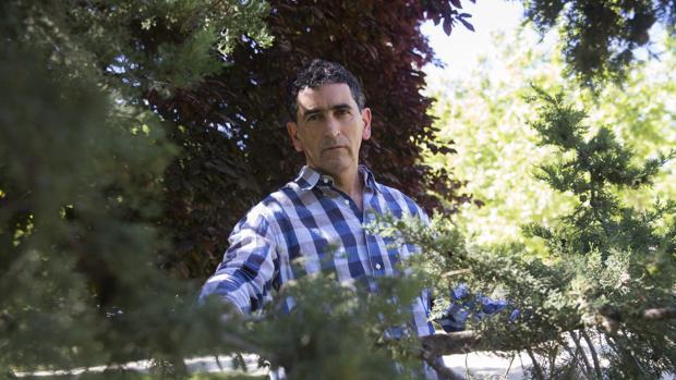 Juan Mayorga, en el parque del Retiro madrileño