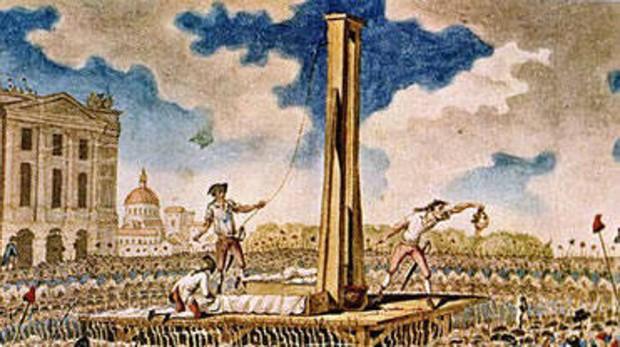 La guillotina se convirtió en la estrella en los años del Terror