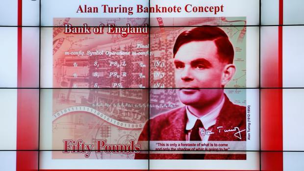 El nuevo billete de 50 libras esterlinas, con el rostro del matemático Alan Turing