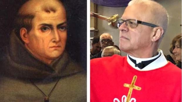 San Junípero Serra y su sucesor, el padre Peter Escalante