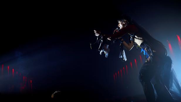 Arca, durante su actuación de anoche en el Sónar