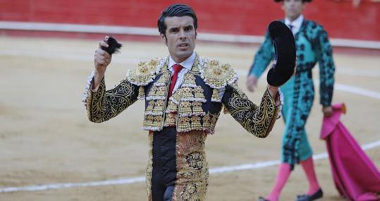Emilio de Justo, en su segundo toro en la Feria de Julio de Valencia