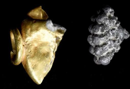 También se encontró joyería de oro y plata