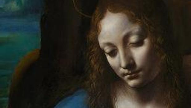 Detalle de «La virgen de las rocas», de Leonardo da Vinci